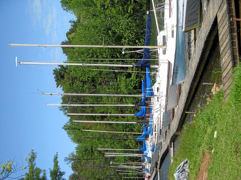 The marina at Asheville Sailing Club