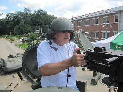 Ed Monsour and a heavy machine gun