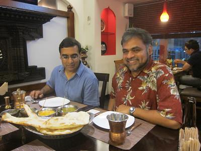 Samiran Banerjee and Anurag Agarwal in a Nepal Restaurant
