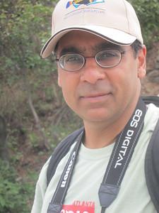 Samiran Banerjee, on the city wall.