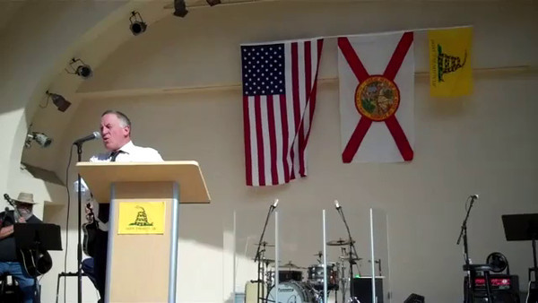 """Trevor Louden, Author and Researcher, speaks at the 2012 Tax Day Tea Party in Orlando, FL.  For more information about his research into the history of Barack Obama, go to  <a href=""""http://www.keywiki.org"""">http://www.keywiki.org</a>"""