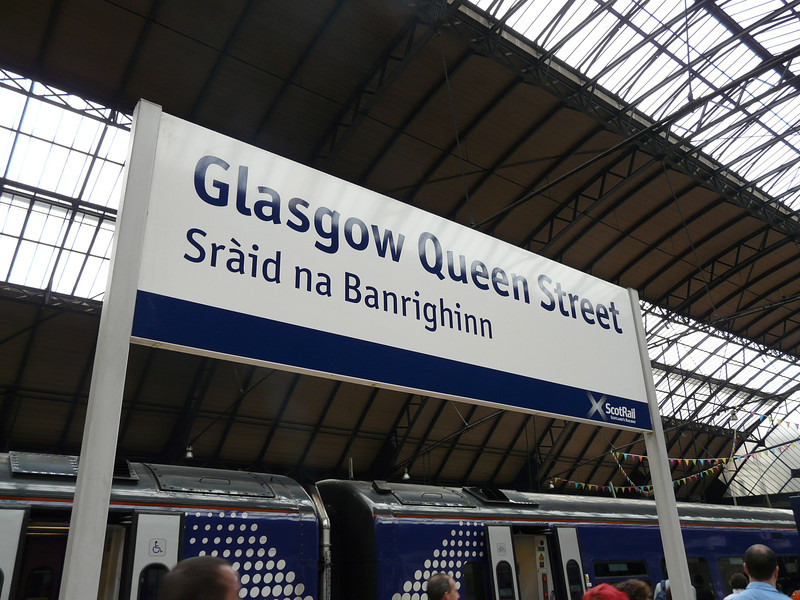 arrival in Glasgow