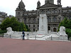 War Memorial in George Square with City Chambers in rear