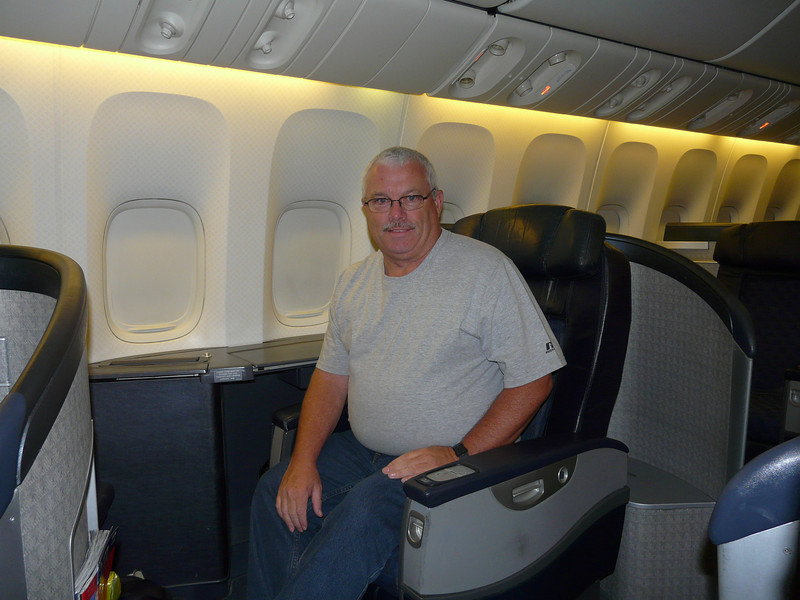 Tom in first class AA 777 Chicago-London