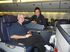 Jim and Zennie in first class AA 777 Chicago-London