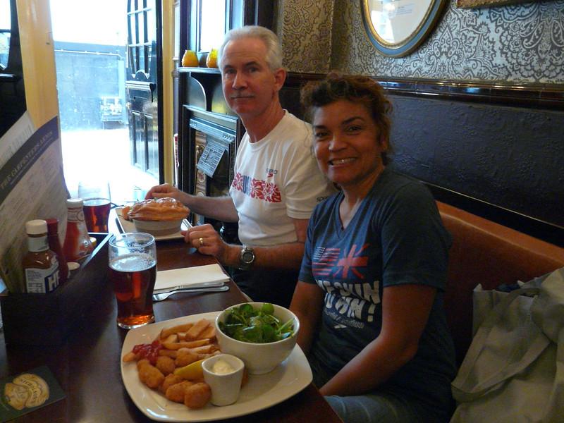 Jim and Zennie in Carpenters Arms Tavern