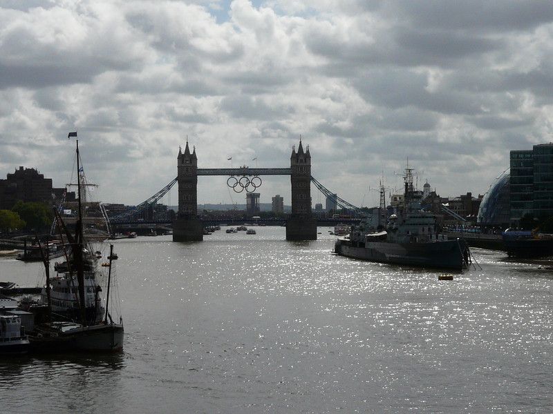 Tower Bridge as seen from London Bridge