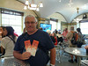 Tom wins table tennis tickets at Chase Visa Center