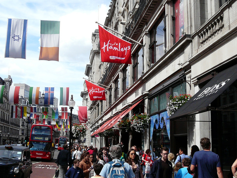 Hamley's Toy Store on Regent Street