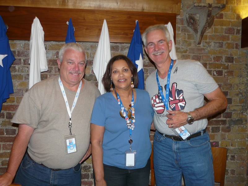 Tom and Jim with Olympic Gold Medalist Gabby Douglas's grandmother (Gold in all around Gymnastics)