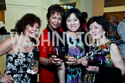 Arlene Pastor, Becky Russ, Nina Yeh, Aurora Magallanes. 10th Washington International Piano Artists Competition. Photo by Tony Powell. La Maison Francaise. August 5, 2012