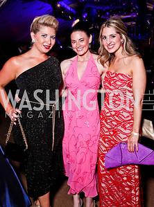 Anne Brady, Amanda Walke, Marissa Mitrovich. Ball on the Mall. Photo by Tony Powell. May 5, 2012