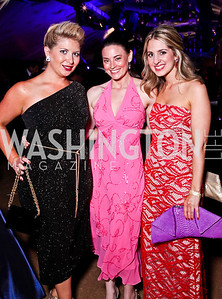 Anne Brady, Amanda Walke, Marissa Mitrovich. Ball on the Mall. Photo by Tony Powell. May 5, 2012