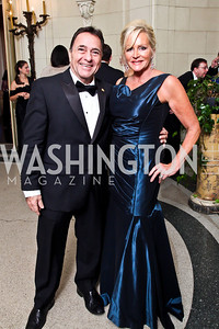 Panamanian Amb. Mario Jaramillo, Deborah Sigmund. Photo by Tony Powell. 2012 Meridian Ball. October 12, 2012