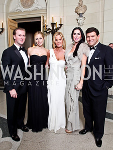 Tripp and Amy Donnelly, Susanna Quinn, Amy and Bret Baier. Photo by Tony Powell. 2012 Meridian Ball. October 12, 2012