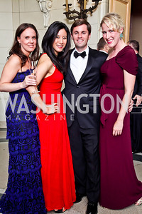 Katherine Hoekman, Julie Peng, Joseph Richardson, Lindley Thornburg. Photo by Tony Powell. 2012 Meridian Ball. October 12, 2012