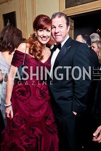 Ritz Palm Beach's Christine DiRocco, Bert Burlingame. Photo by Tony Powell. 2012 Meridian Ball. October 12, 2012