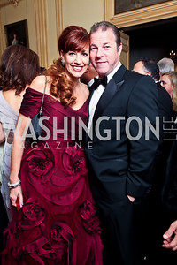 Ritz Palm Beach's Christine DiRocco, Bert Burlingame. Photo by Tony Powell. 2012 Meridian Ball. October 12, 2012