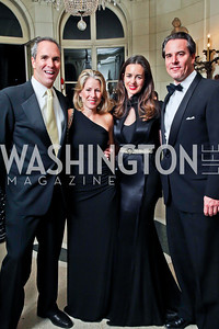 Brien and Amy Biondi, Gwen and Stuart Holliday. Photo by Tony Powell. 2012 Meridian Ball. October 12, 2012