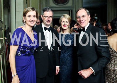 Sophie Delattre and French Amb. François Delattre, Sydney McNiff Johnson and Jay Johnson. Photo by Tony Powell. 2012 Meridian Ball. October 12, 2012