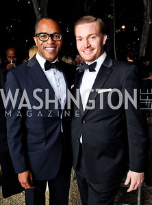 Jonathan Capehart, Nick Schmit. Photo by Tony Powell. 2012 Meridian Ball. October 12, 2012