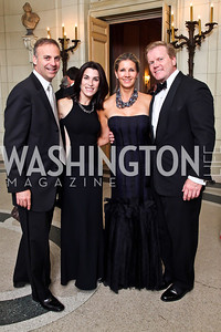 Adam and Tracy Bernstein, Michelle Pablo, Peter Anthony. Photo by Tony Powell. 2012 Meridian Ball. October 12, 2012