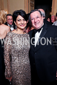 Shamim Jawad, Monaco Amb. Gilles Noghes. Photo by Tony Powell. 2012 Meridian Ball. October 12, 2012