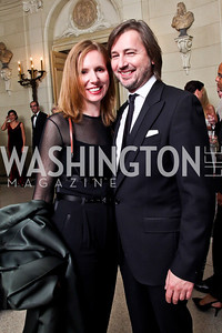 Juleanna Glover, Christopher Reiter. Photo by Tony Powell. 2012 Meridian Ball. October 12, 2012