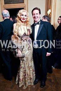 Ioana and Paul Lee. Photo by Tony Powell. 2012 Meridian Ball. October 12, 2012