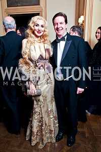 Ioana and Paul Lee. Photo by Tony Powell. 2012 Meridian Ball. October 12, 2012