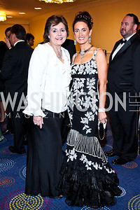 Linda Carlozzi, Mina Massaro-Giordano. Photo by Tony Powell. 2012 NIAF Gala Awards Dinner. Hilton Hotel. October 13, 2012