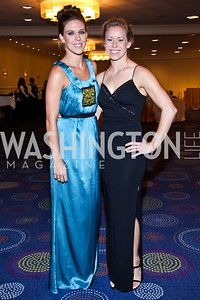 Emily Bouck, Brittany Viola. Photo by Tony Powell. 2012 NIAF Gala Awards Dinner. Hilton Hotel. October 13, 2012