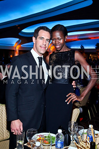 Jason Van Buren, Jacqueline Akoko. Photo by Tony Powell. 2012 NIAF Gala Awards Dinner. Hilton Hotel. October 13, 2012