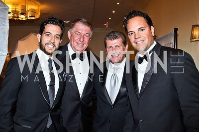 Tony Reali, Jerry Colangelo, Geno Auriemma, Mike Piazza. Photo by Tony Powell. 2012 NIAF Gala Awards Dinner. Hilton Hotel. October 13, 2012