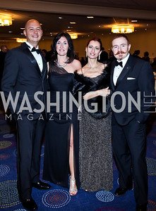 Elvis Vignone, Francesca Danteo, Gianpaola Ciniglio, Stefano Bergomzini. Photo by Tony Powell. 2012 NIAF Gala Awards Dinner. Hilton Hotel. October 13, 2012