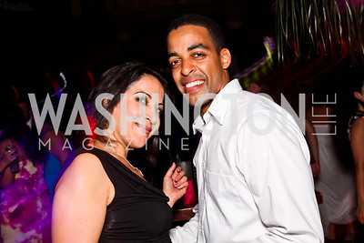 Nazgol Zand, Rashaad Green. 2012 Noche de Gala After Party. Photo by Tony Powell. Cuba Libre. Mayflower Hotel. September 11, 2012