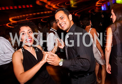 Sophia Reaves, Will Campos. 2012 Noche de Gala After Party. Photo by Tony Powell. Cuba Libre. Mayflower Hotel. September 11, 2012