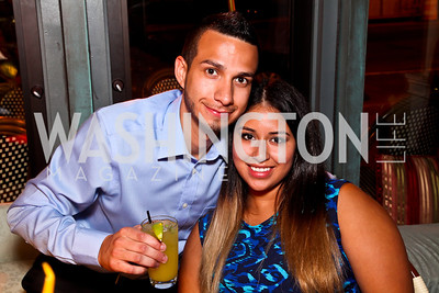Jeffrey Gomez, Jennifer Barrera. 2012 Noche de Gala After Party. Photo by Tony Powell. Cuba Libre. Mayflower Hotel. September 11, 2012