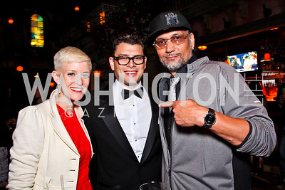 Betsy Lippitt, Raul Julia II, Jimmy Smits. 2012 Noche de Gala After Party. Photo by Tony Powell. Cuba Libre. Mayflower Hotel. September 11, 2012