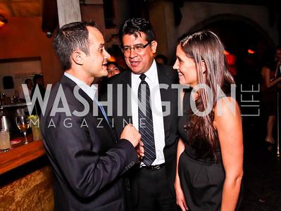 Eloy Martinez, Mark Magana, Sara Valenzuela. 2012 Noche de Gala After Party. Photo by Tony Powell. Cuba Libre. Mayflower Hotel. September 11, 2012
