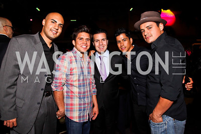 Luis Arellano, Henry Cejudo, Felix Ortiz III, Jeremy Valdez, Jesse Garcia. 2012 Noche de Gala After Party. Photo by Tony Powell. Cuba Libre. Mayflower Hotel. September 11, 2012