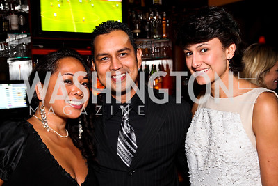 Tiya Kirby, Will Campos, Denise Ovalle. 2012 Noche de Gala After Party. Photo by Tony Powell. Cuba Libre. Mayflower Hotel. September 11, 2012