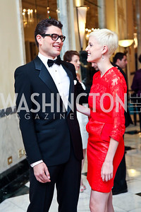 Raul Julia II, Betsy Lippitt. 2012 Noche de Gala. Photo by Tony Powell. Mayflower Hotel. September 11, 2012