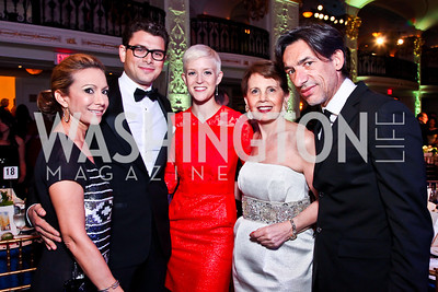 Pilar O'Leary, Raul Julia II, Betsy Lippitt, Adrienne Arsht, Septime Webre. 2012 Noche de Gala. Photo by Tony Powell. Mayflower Hotel. September 11, 2012