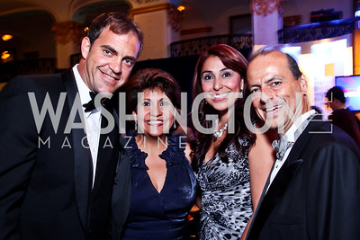 Emiliano Saccone, Janet Murgia, Ivette Fernandez, Jorge Mettey. 2012 Noche de Gala. Photo by Tony Powell. Mayflower Hotel. September 11, 2012