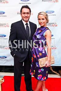 Actor Demian Bichir and Stefanie Sherk. 2012 Noche de Gala. Photo by Tony Powell. Mayflower Hotel. September 11, 2012