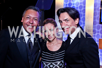 Felix Sanchez, Pilar O'Leary, Septime Webre. 2012 Noche de Gala. Photo by Tony Powell. Mayflower Hotel. September 11, 2012