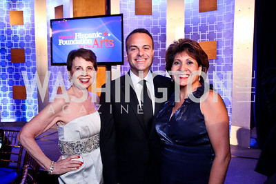 Adrienne Arsht, Jorge Plasencia, Janet Murgia. 2012 Noche de Gala. Photo by Tony Powell. Mayflower Hotel. September 11, 2012