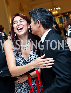 Ivette Fernandez, Esai Morales. 2012 Noche de Gala. Photo by Tony Powell. Mayflower Hotel. September 11, 2012