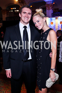 Dan Knight, Alison McLaughlin. 2012 Noche de Gala. Photo by Tony Powell. Mayflower Hotel. September 11, 2012